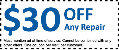 $30 OFF any appliance repair.